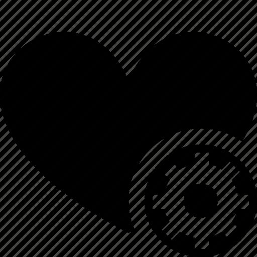 bookmark, favorites, heart, like, love, settings icon