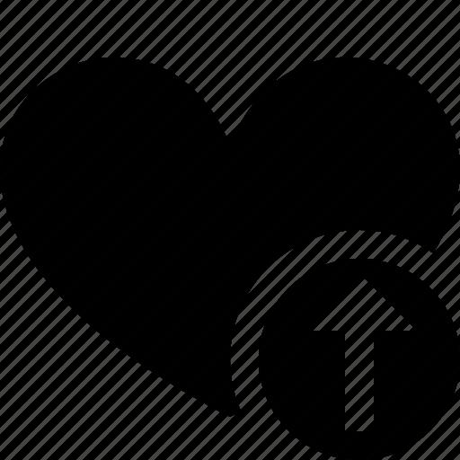 bookmark, favorites, heart, like, love, upload icon