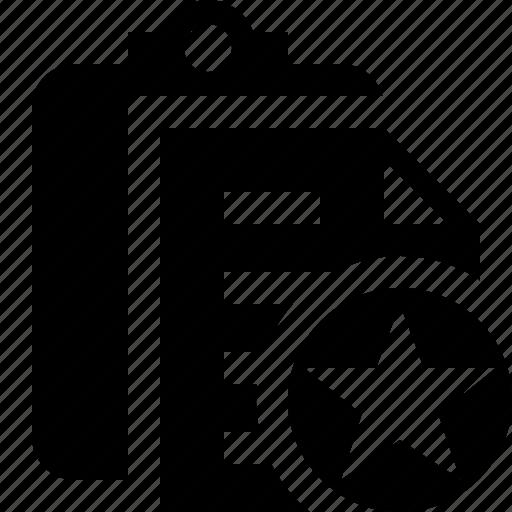 Clipboard Copy Paste Star Task Icon