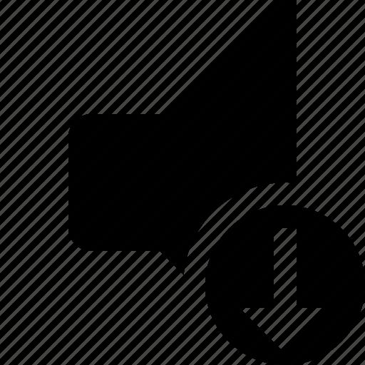 audio, download, music, sound, speaker, volume icon