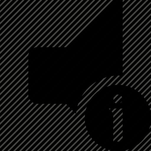 audio, information, music, sound, speaker, volume icon