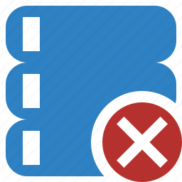 cancel, data, database, server, storage icon