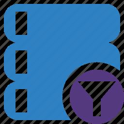 data, database, filter, server, storage icon