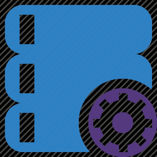 data, database, server, settings, storage icon