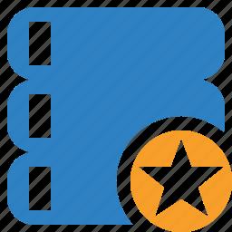 data, database, server, star, storage icon