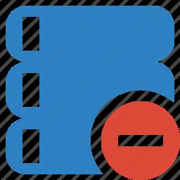 data, database, server, stop, storage icon