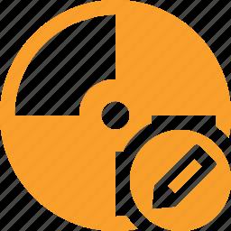 cd, disc, disk, dvd, edit icon