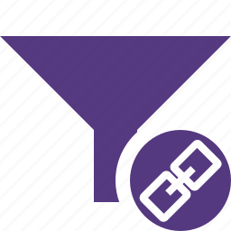 filter, funnel, link, sort, tools icon