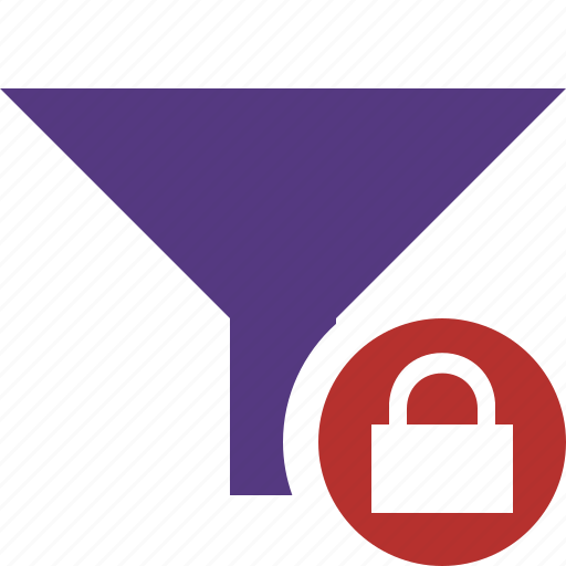 filter, funnel, lock, sort, tools icon