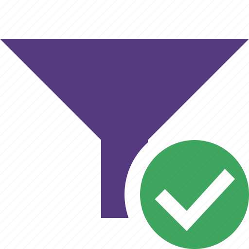 filter, funnel, ok, sort, tools icon