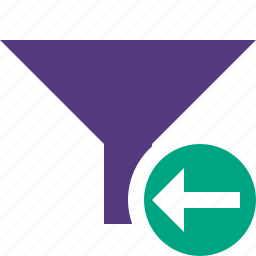filter, funnel, previous, sort, tools icon