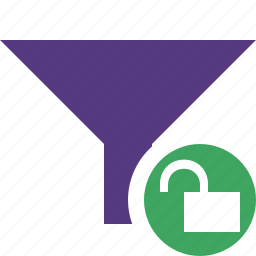 filter, funnel, sort, tools, unlock icon