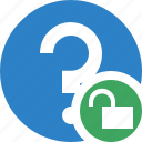 faq, help, question, support, unlock