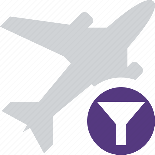 airplane, filter, flight, plane, transport, travel icon