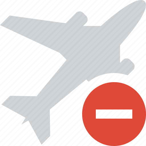 airplane, flight, plane, stop, transport, travel icon