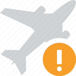 airplane, flight, plane, transport, travel, warning icon