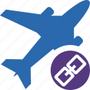 airplane, flight, link, plane, transport, travel icon