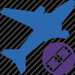 airplane, flight, link, plane, transport, travel icon