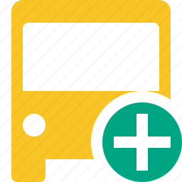 add, bus, public, transport, transportation, travel, vehicle icon