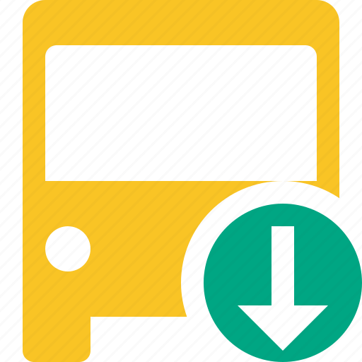 bus, download, public, transport, transportation, travel, vehicle icon