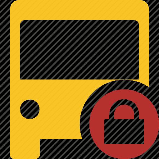bus, lock, public, transport, transportation, travel, vehicle icon