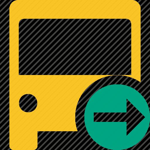 bus, next, public, transport, transportation, travel, vehicle icon