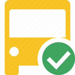bus, ok, public, transport, transportation, travel, vehicle icon