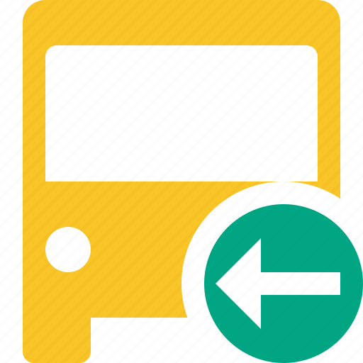 bus, previous, public, transport, transportation, travel, vehicle icon