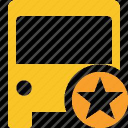 bus, public, star, transport, transportation, travel, vehicle icon