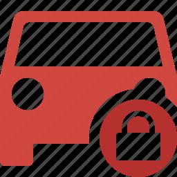 auto, car, lock, traffic, transport, vehicle icon
