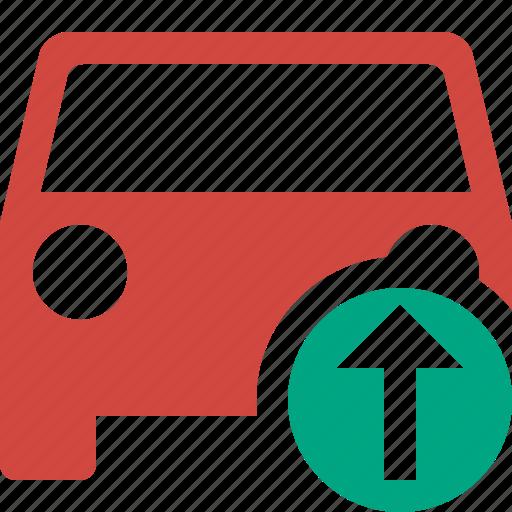 auto, car, traffic, transport, upload, vehicle icon