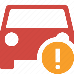 auto, car, traffic, transport, vehicle, warning icon