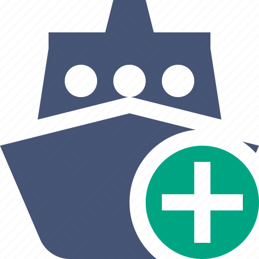 add, cruise, sea, ship, transport, travel, vessel icon