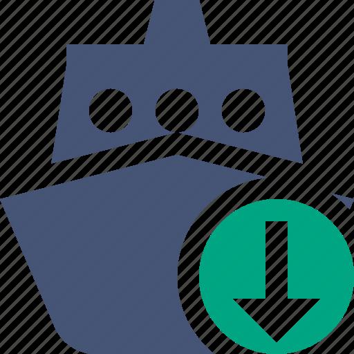 cruise, download, sea, ship, transport, travel, vessel icon