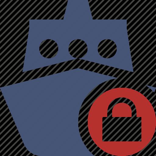 cruise, lock, sea, ship, transport, travel, vessel icon