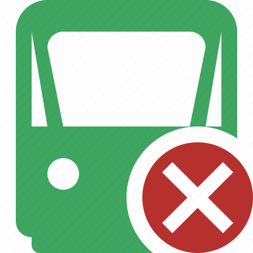 cancel, delivery, railway, train, transport, travel icon