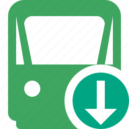 delivery, download, railway, train, transport, travel icon