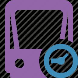 clock, public, train, tram, tramway, transport icon