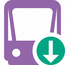 download, public, train, tram, tramway, transport icon