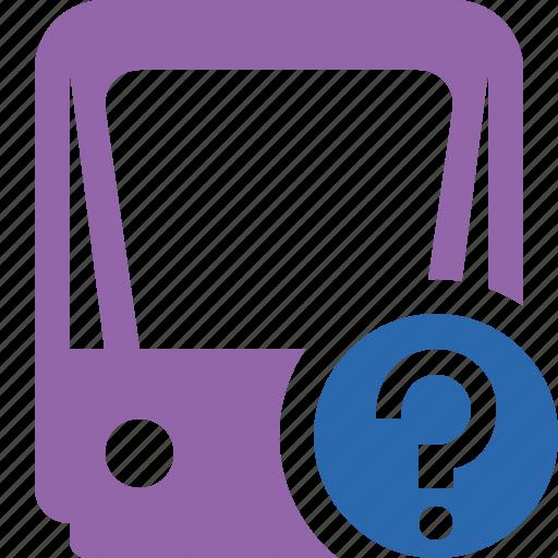 help, public, train, tram, tramway, transport icon