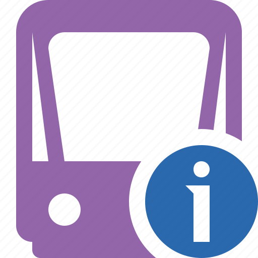 information, public, train, tram, tramway, transport icon