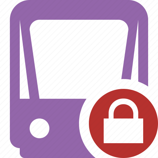lock, public, train, tram, tramway, transport icon