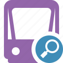 public, search, train, tram, tramway, transport icon