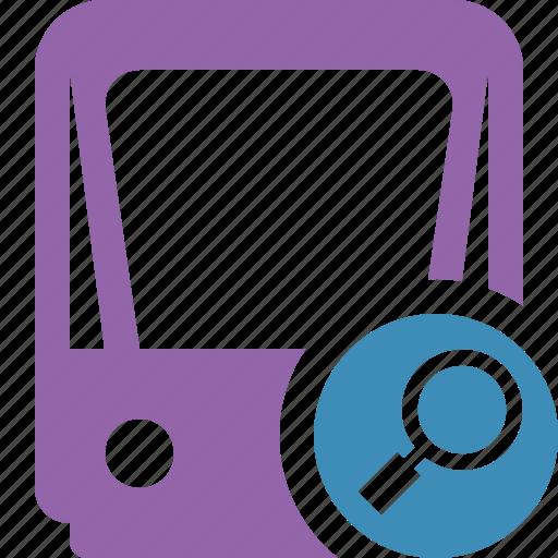 public, search, train, tram, tramway, transport icon
