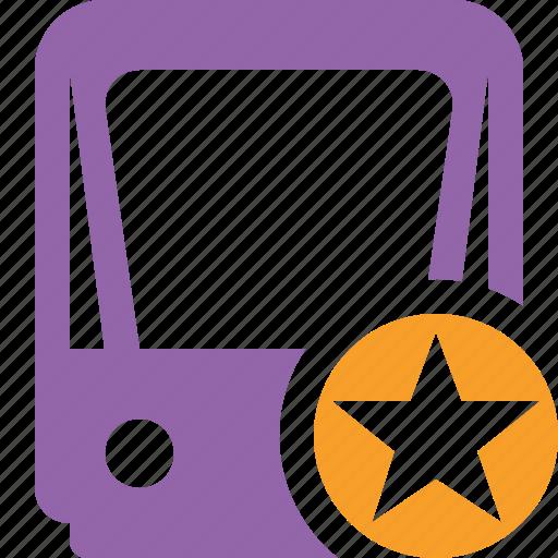 public, star, train, tram, tramway, transport icon