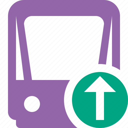 public, train, tram, tramway, transport, upload icon