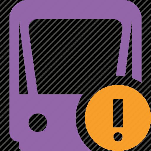 public, train, tram, tramway, transport, warning icon