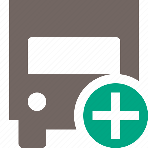 add, delivery, transport, transportation, truck, vehicle icon