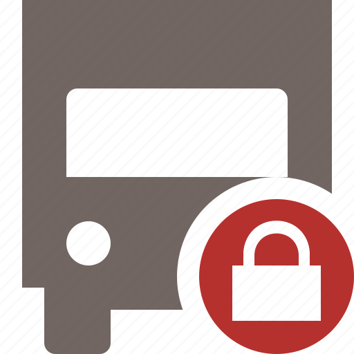 delivery, lock, transport, transportation, truck, vehicle icon