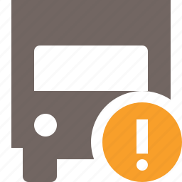 delivery, transport, transportation, truck, vehicle, warning icon
